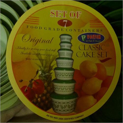 7 Pcs Cake Container Set