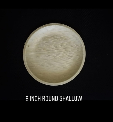 8 Inch Round Shallow Areca Plate