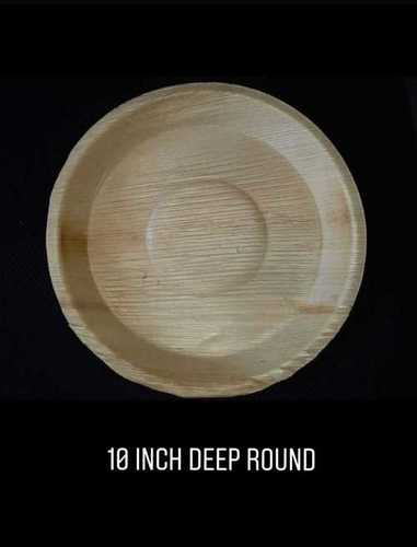 10 Inch Round Deep Areca Plate