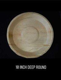 10 Inch Round Deep Areca Plate