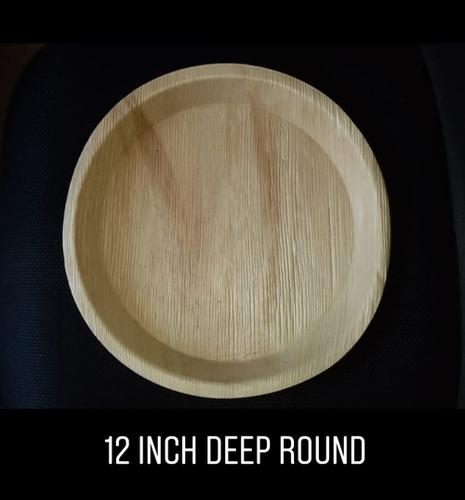 12 Inch Round Deep Areca Plate