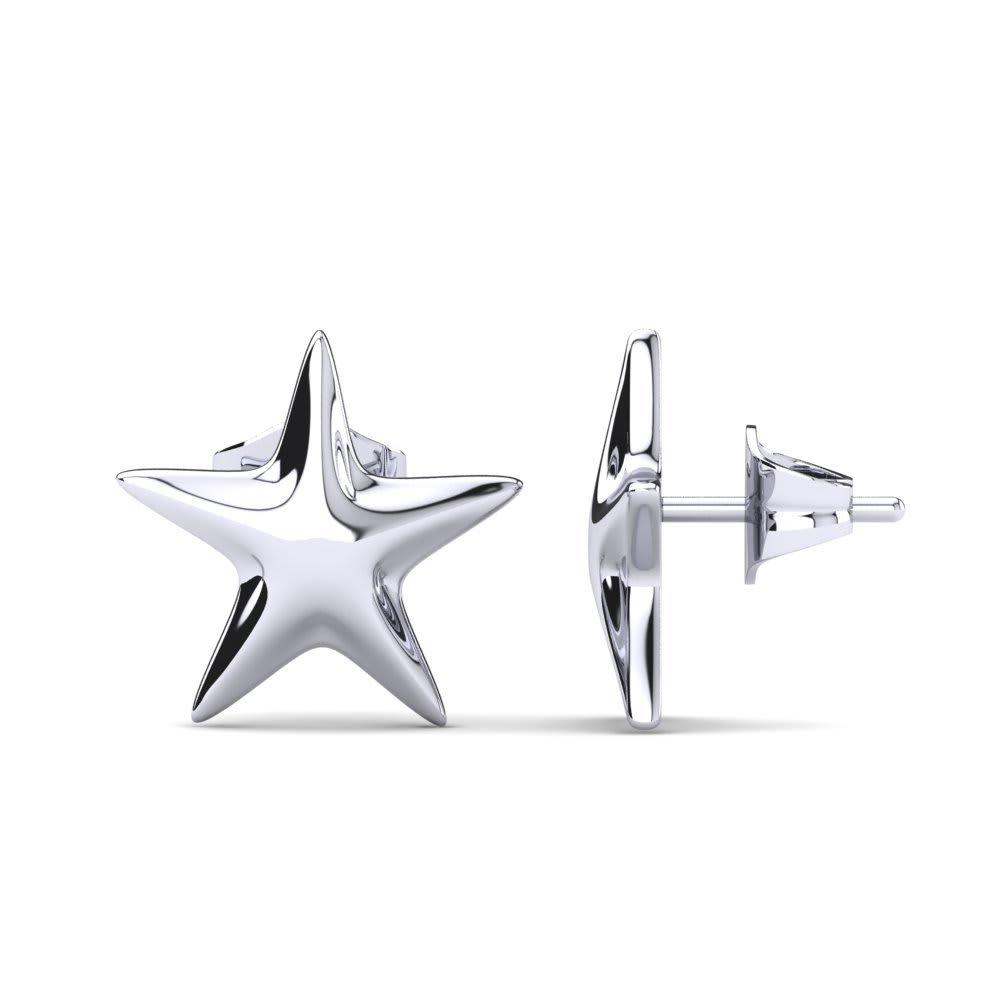 Sterling silver Plain earrings