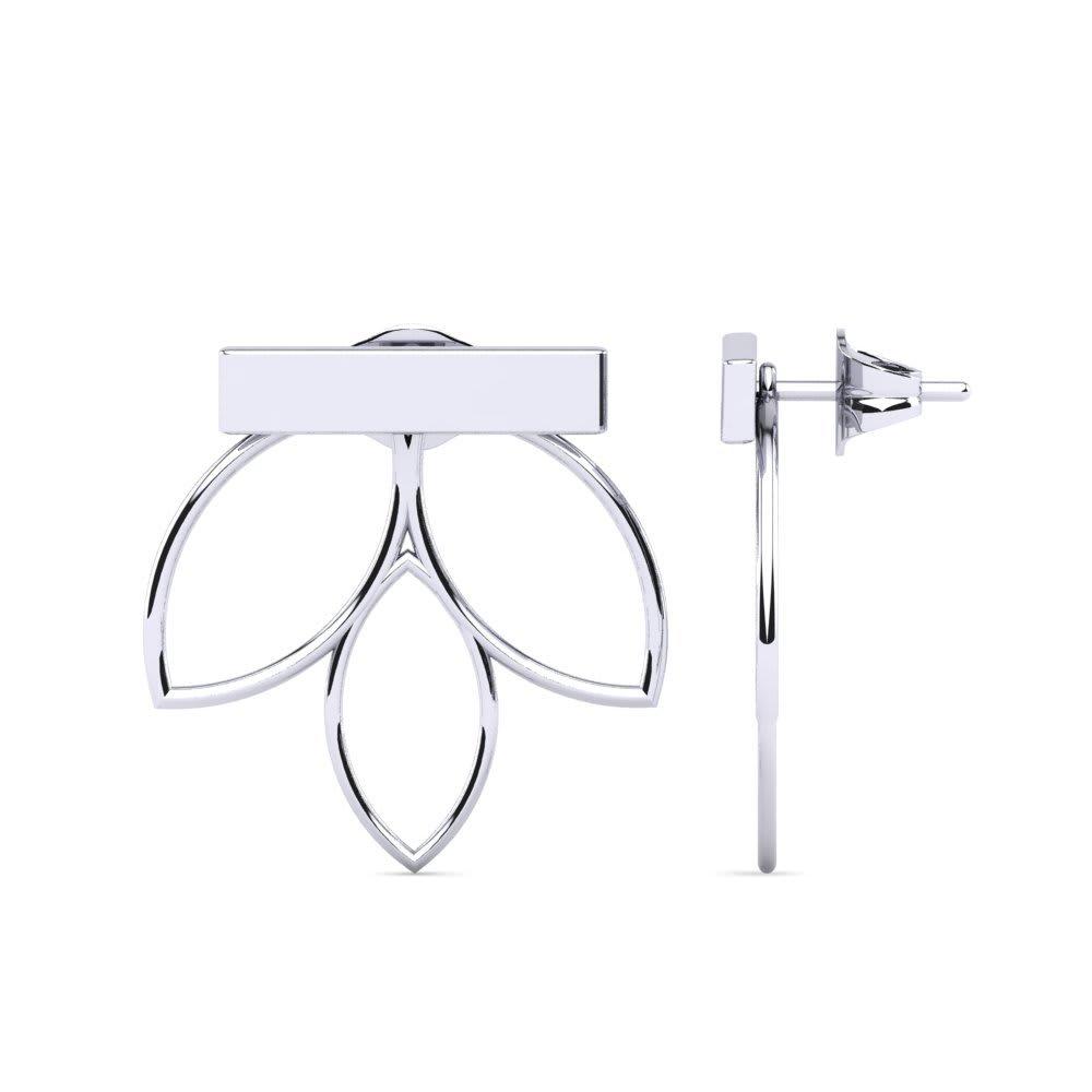 Silver Plain earrings
