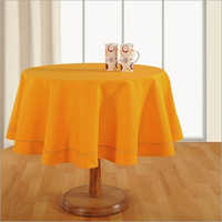 Amber Yellow Plain Round Table Linen
