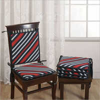 Coral Stripes Chair Pads