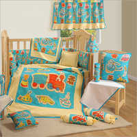 Engine Print Baby Cot Set