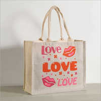 Pure Love Jute Shopping Bag