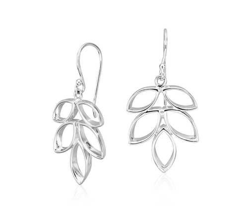 Plain earring sterling silver
