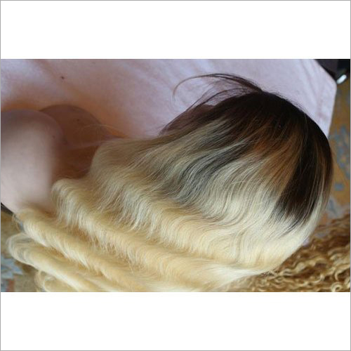 Golden Human Hair Wig