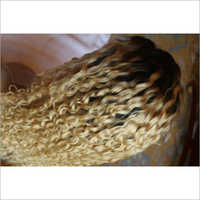 Blond Curly Human Hair Wig