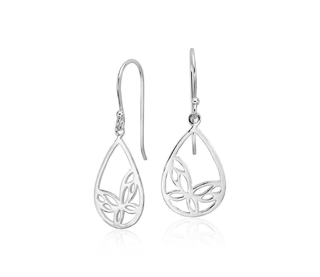 Plain earring sterling silver
