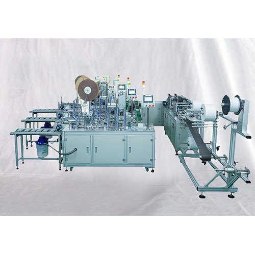 Fully automatic 3 ply surgical mask making machine