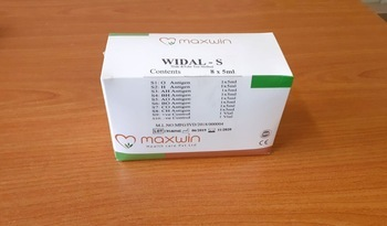 Widal Antigen Sets for Typhoid Slide and Tube Tests