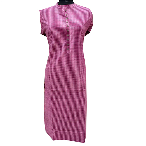 Ladies Striped Cotton Kurti