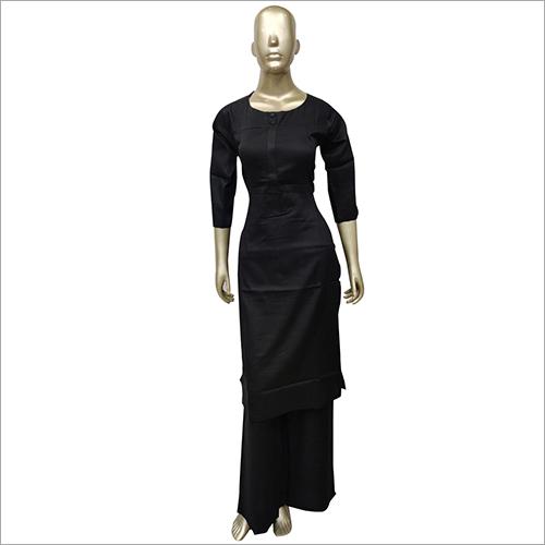 Ladies Black Kurti with Palazzo Set