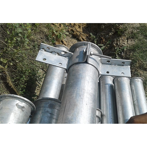 Zinc Galvanised Pole with Clamp