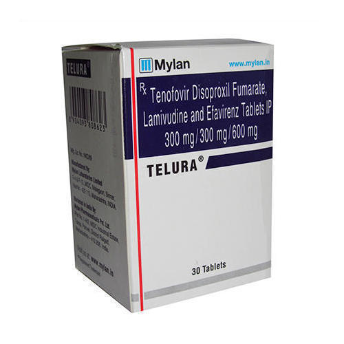Telura Tablet (Lamivudine (300mg) + Tenofovir disoproxil fumarate (300mg) + Efavirenz (600mg) - MSD Pharmaceuticals Pvt Ltd)