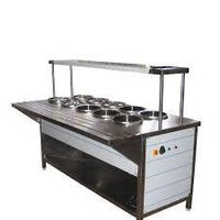 2 Overhead Shelf Bain Marie Counter