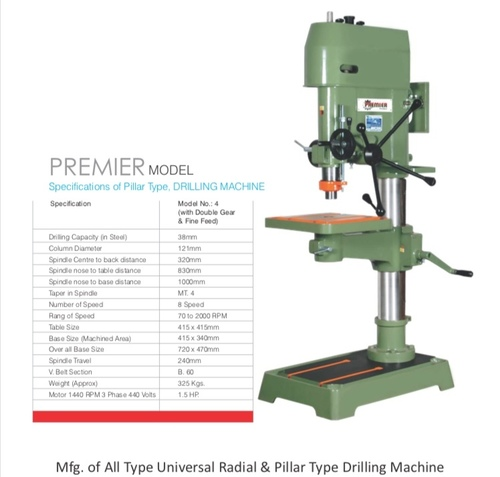 38 MM Pillar Drill Machine