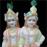 Water Resistant Marble Radha Krishna Statue