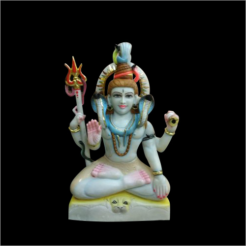 Polished Marble Shiv Statue