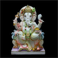Polished Marble Ganesh Statue