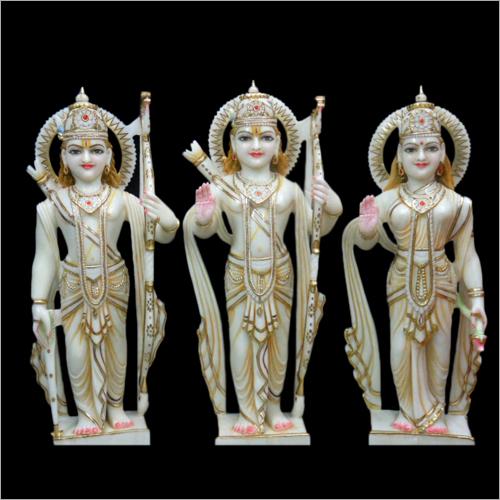Polished Marble Ram Laxman Sita Statues
