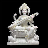 Polished Marble Lord Saraswati Statue