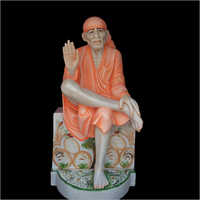 Polished Marble Lord Sai Baba Statue