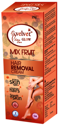 Velvet Glow Hair Removal Cream(Mix Fruit)