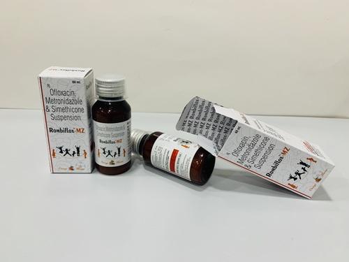 Ofloxacin, Metronidazole & Simethicone susp.