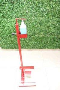 Foot paddle sanitizer dispenser
