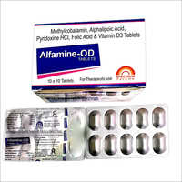 Methylcobalamin Alphalipoic Acid Folic Acid And Vitamin D3 Tablets