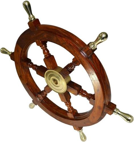 Ship Wheel & porthole Clock