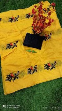 New Designer Chikli Chanderi Cotton Saree