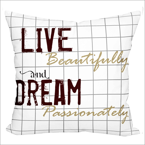 Live & Dream Print Cushion