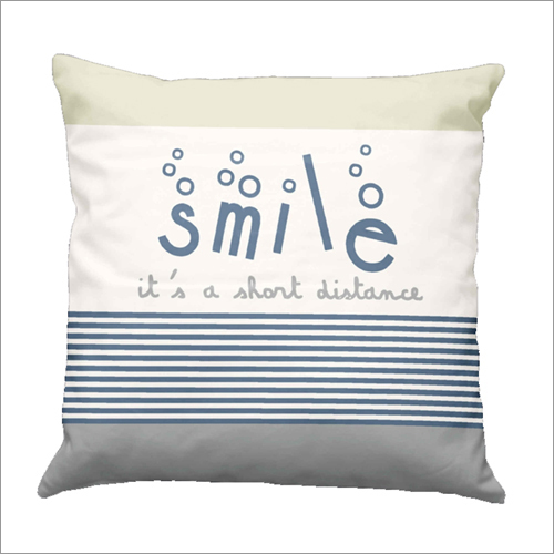 Smile Print Cushion