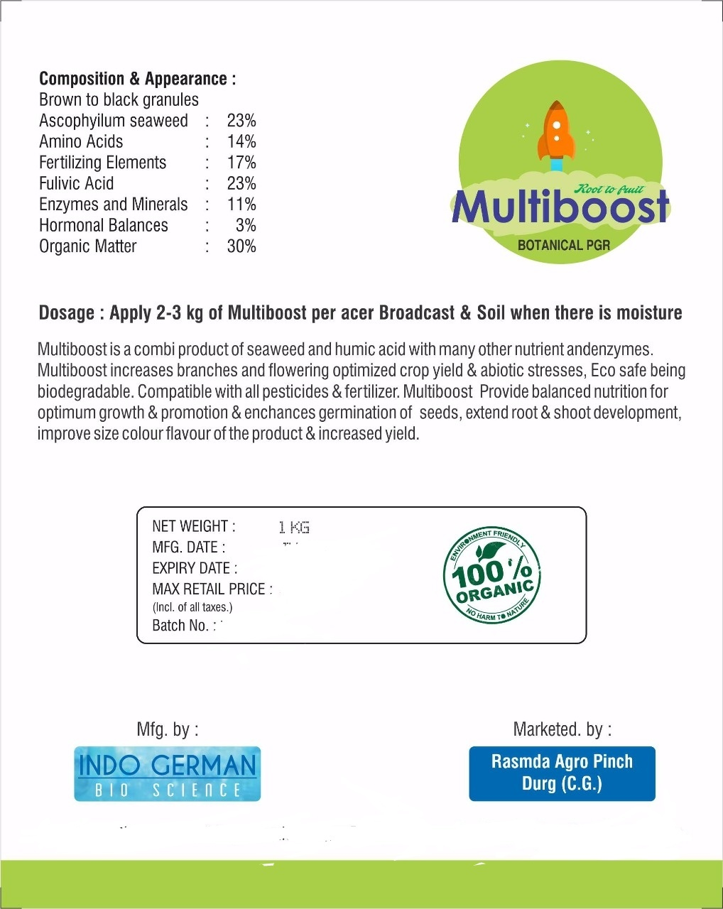 Multiboost Botanical PGR
