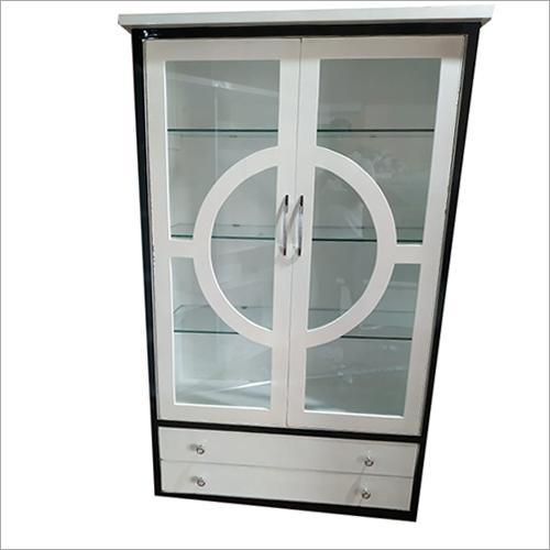 Wooden Double Door Showcase