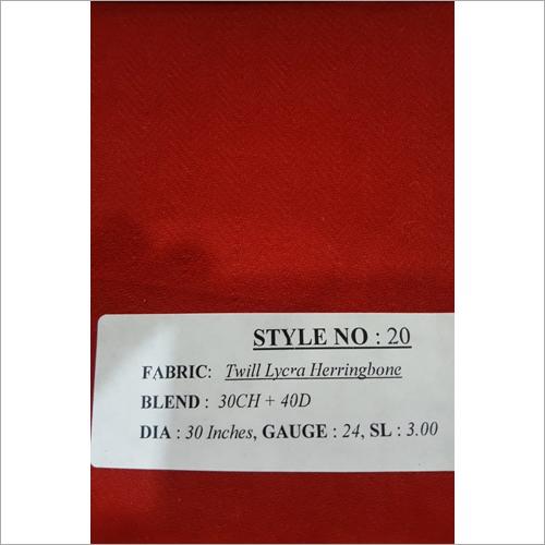 Twill Lycra Herringbone Fabric