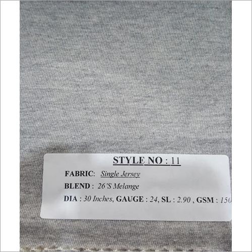 Grey Single Jersey Fabric