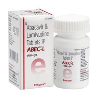 A Bec L 600 mg/300 mg Tablet (Abacavir (600mg) + Lamivudine (300mg) - Emcure Pharmaceuticals Ltd)