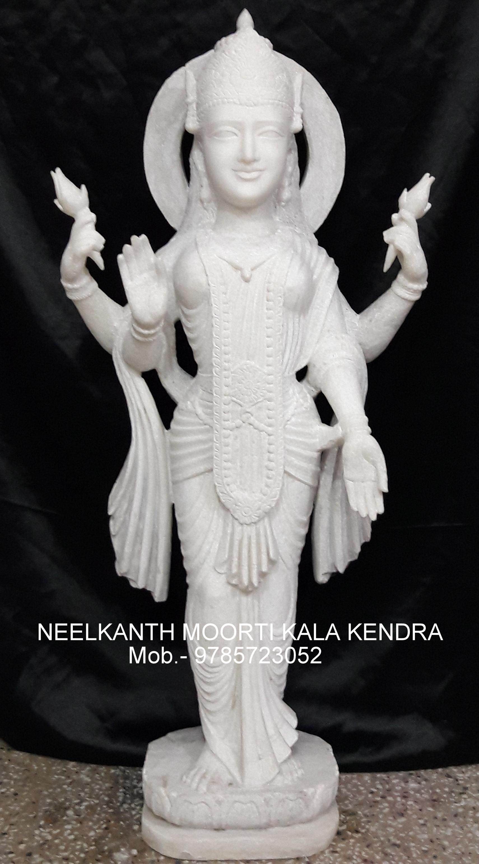 Marble Laxmi standing God Statue