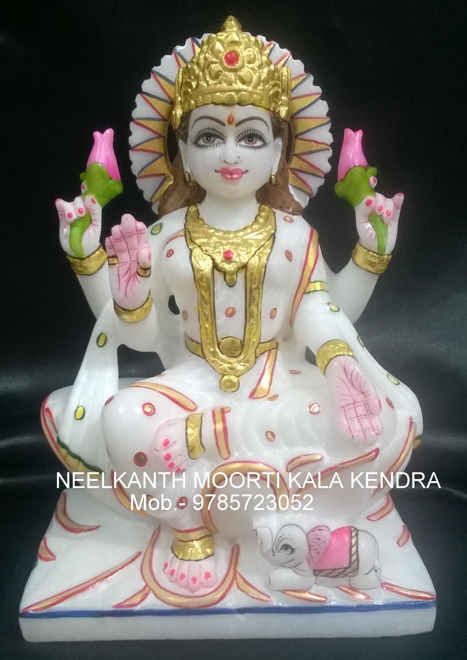 white laxmi Statue Idol