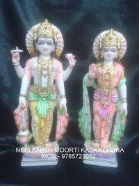 Marble Vishnu Narayan God statue