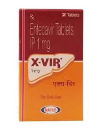 X Vir 1mg Tablet (Entecavir (1mg) - Natco Pharma Ltd)