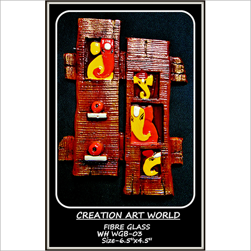 Multicolor Fancy Wooden Ganesha Wall Hanging