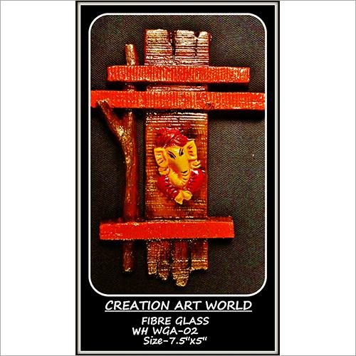 5 Inch Wooden Ganesha Wall Hanging