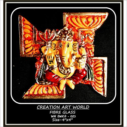 Multicolor Swastik Design Ganesha Wall Hanging