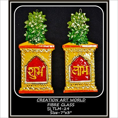 Multicolor Tulsi Munch Shubh Labh Wall Hanging